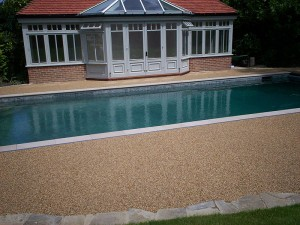 Pebbo | Resin Bound Permeable Paving | Swimming Pools